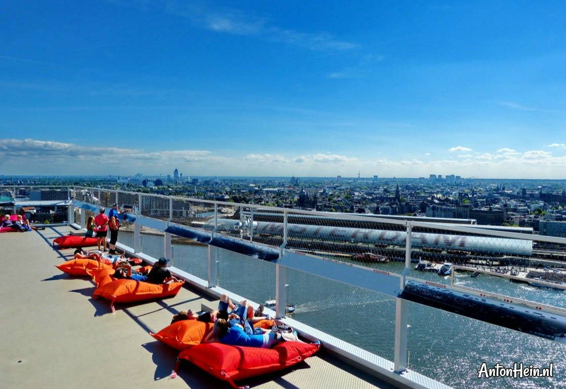 relax on bean bags at A'DAM Lookout